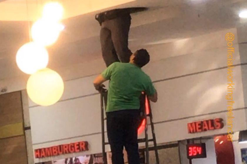 Ladrão fica preso nas condutas de ar condicionado após roubar shopping