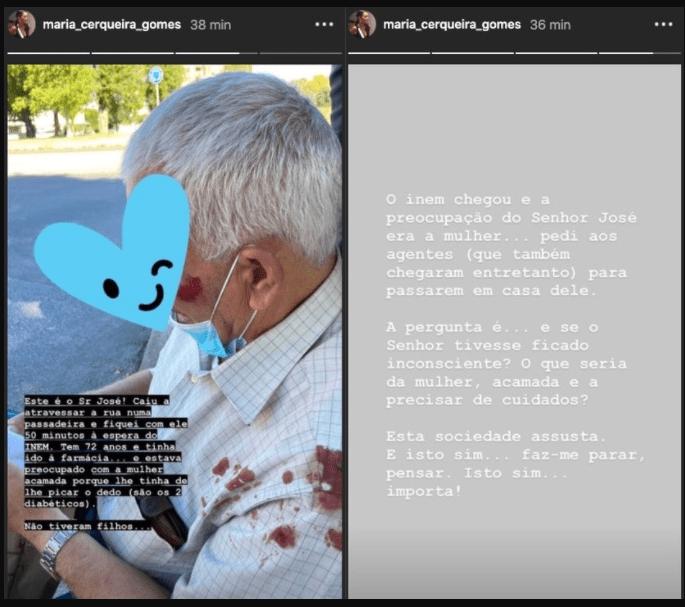 """Depois de ajudar um idoso caído na rua, Maria Cerqueira Gomes reflecte: """"Esta sociedade assusta"""""""