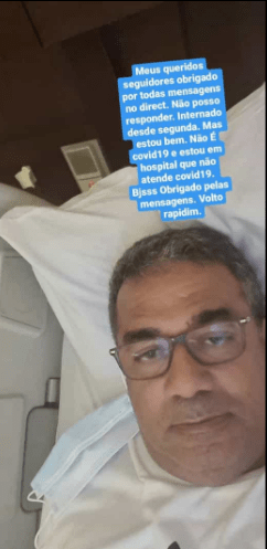 """Pai de Anitta internado em hospital: """"Não é Covid-19"""""""