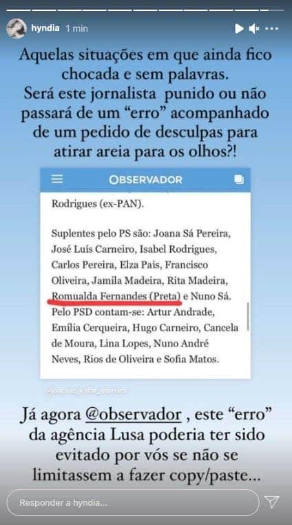 Rita Pereira exige punição a jornalista. Saiba quem e o porquê