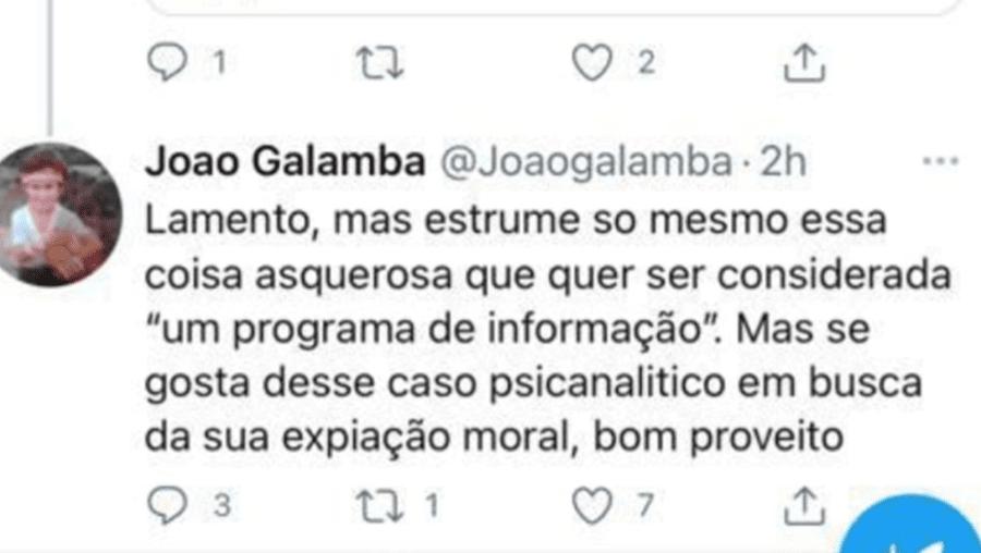 """Secretário de Estado fez post em que apelida de """"estrume"""" programa da RTP"""