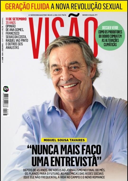 Miguel Sousa Tavares anuncia que irá abandonar o jornalismo